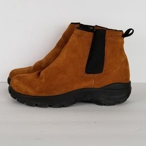 Lands End Brown Suede Pull-On Ankle Boots Men's 7M